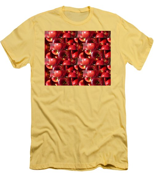 Square Apples Men's T-Shirt (Slim Fit) by Tina M Wenger