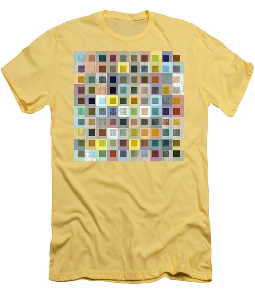 Men's T-Shirt (Slim Fit) featuring the digital art Squares In Squares Three by Michelle Calkins