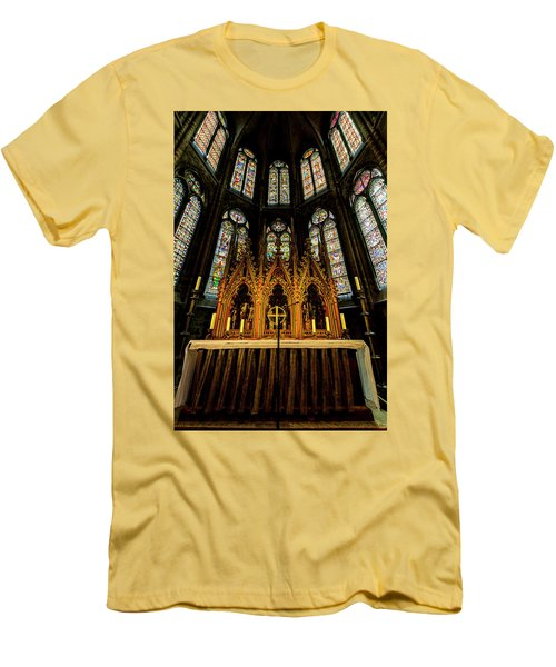 Men's T-Shirt (Slim Fit) featuring the photograph St. Elizabeth Church by David Morefield