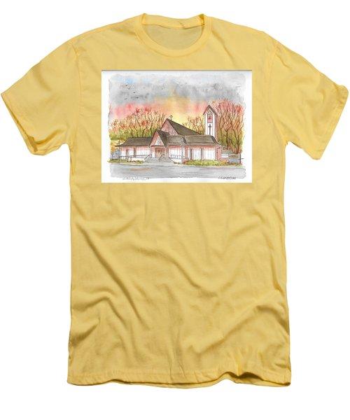 St. Malachy Church, Tehachapi, California Men's T-Shirt (Athletic Fit)