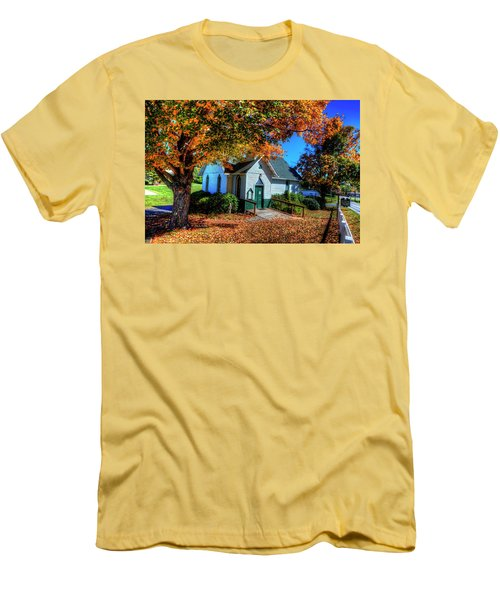 St Mary's Church Men's T-Shirt (Slim Fit) by Dale R Carlson