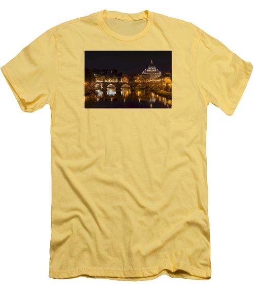 St. Peter's Basilica-655 Men's T-Shirt (Slim Fit) by Alex Ursache