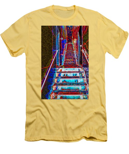Stairway To Bliss Men's T-Shirt (Slim Fit) by Phil Cardamone