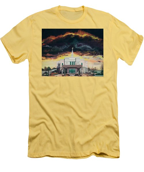 Men's T-Shirt (Slim Fit) featuring the painting Stand In Holy Places by Jane Autry