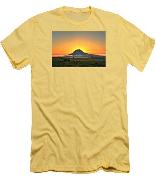 Standing In The Shadow Men's T-Shirt (Slim Fit) by Fiskr Larsen
