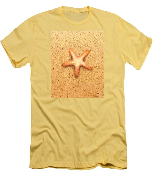 Men's T-Shirt (Slim Fit) featuring the painting Star Fish by Katherine Young-Beck