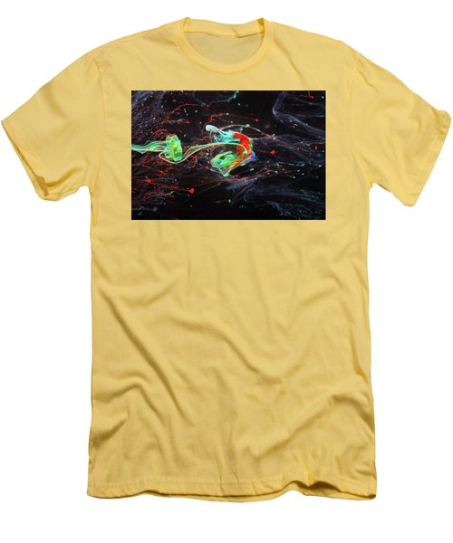 Starborn - Colorful Abstract Art Photography - Paint Pouring Men's T-Shirt (Slim Fit) by Modern Art Prints
