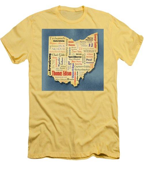 States - Famous Ohio Men's T-Shirt (Slim Fit) by Ron Grafe