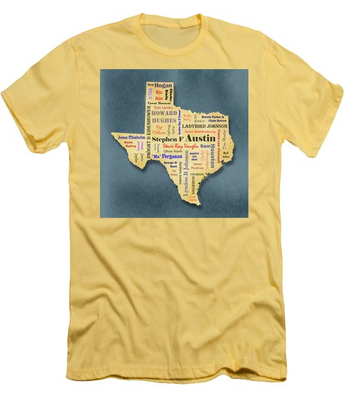 States - Famous Texas Men's T-Shirt (Athletic Fit)