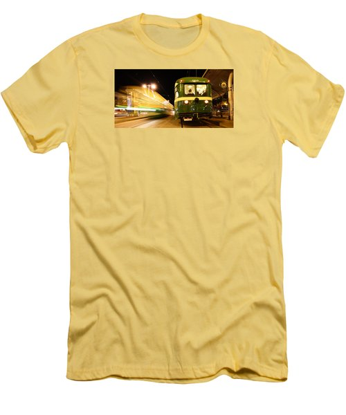 Men's T-Shirt (Slim Fit) featuring the photograph Stationary by Steve Siri