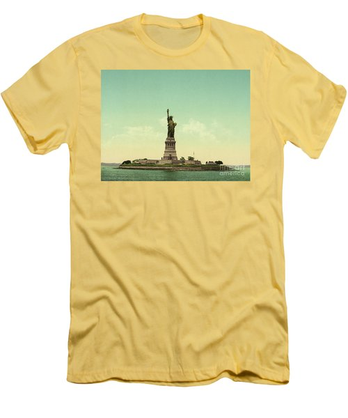 Statue Of Liberty, New York Harbor Men's T-Shirt (Athletic Fit)
