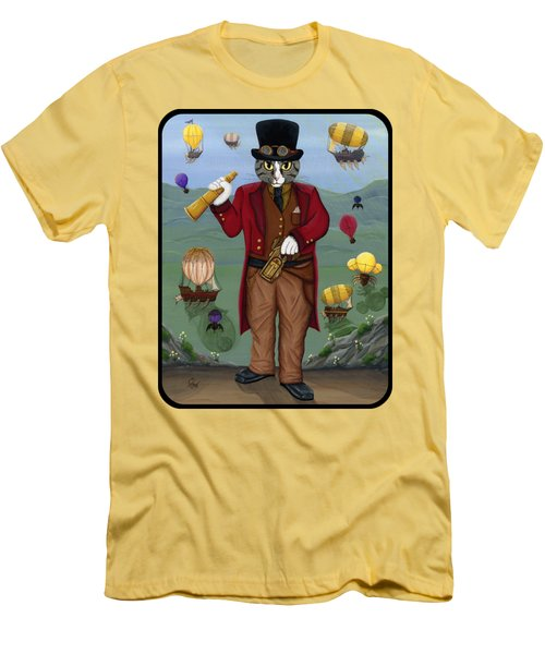 Steampunk Cat Guy - Victorian Cat Men's T-Shirt (Athletic Fit)