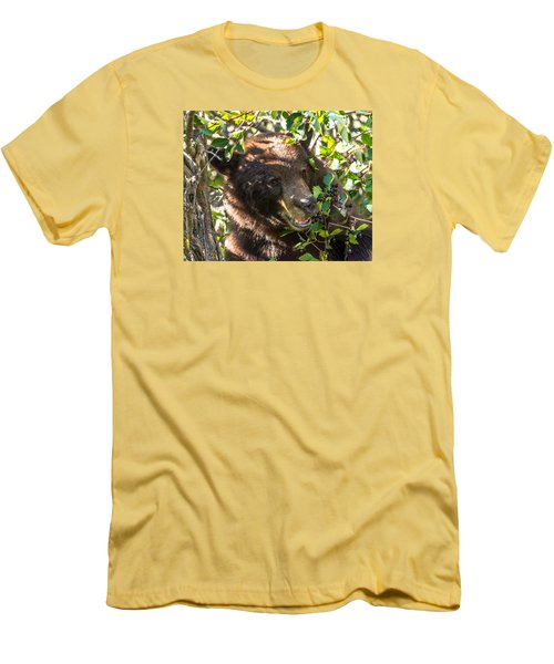 Men's T-Shirt (Slim Fit) featuring the photograph Step Away From The Berries by Yeates Photography