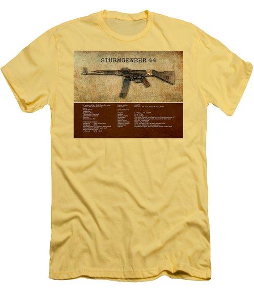 Men's T-Shirt (Slim Fit) featuring the digital art Stg 44 Sturmgewehr 44 by John Wills