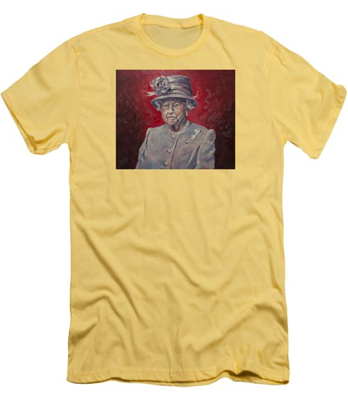 Men's T-Shirt (Slim Fit) featuring the painting Stiff Your Upperlip And Carry On by Nop Briex