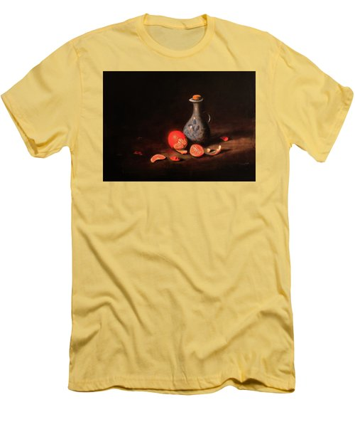 Men's T-Shirt (Slim Fit) featuring the painting Still Life With A Little Dutch Jug by Barry Williamson