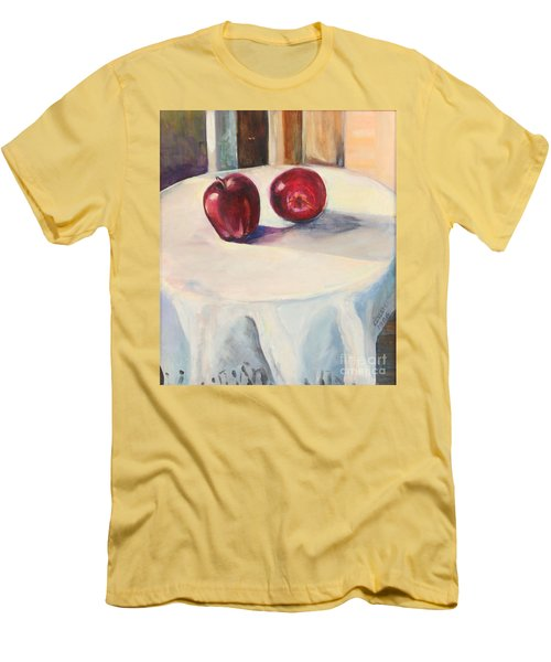 Men's T-Shirt (Slim Fit) featuring the painting Still Life With Apples by Daun Soden-Greene