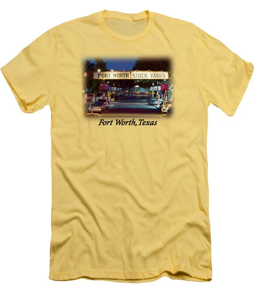 Stock Yards Sign T-shirt Men's T-Shirt (Athletic Fit)