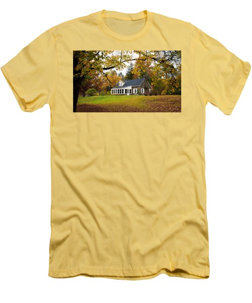 Stone Cottage In The Fall Men's T-Shirt (Slim Fit) by Kenneth Cole
