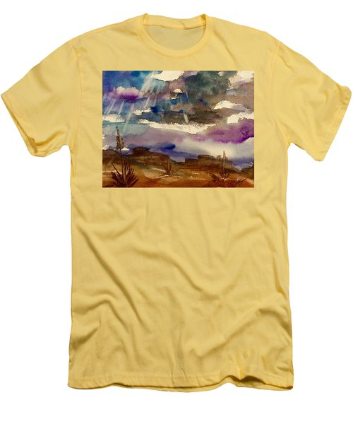 Storm Clouds Over The Desert Men's T-Shirt (Athletic Fit)