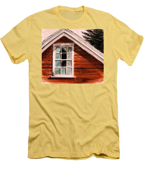 Men's T-Shirt (Slim Fit) featuring the painting Storm Damage by John Williams