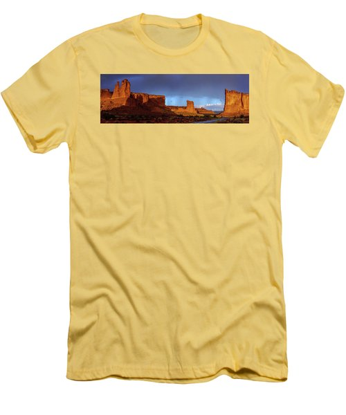 Men's T-Shirt (Slim Fit) featuring the photograph Stormy Desert by Chad Dutson