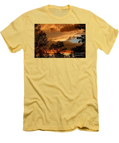 Stormy Sunset Men's T-Shirt (Slim Fit) by Marilyn Carlyle Greiner