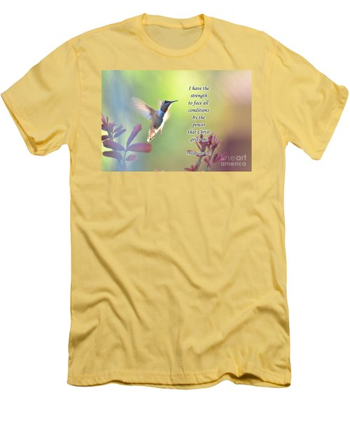 Men's T-Shirt (Slim Fit) featuring the photograph Strength Through Christ by Debby Pueschel