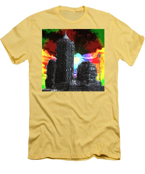 Structural Dissonance Men's T-Shirt (Slim Fit) by Iowan Stone-Flowers