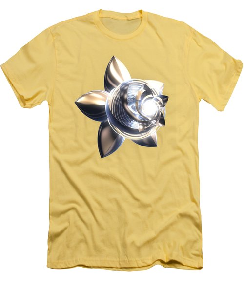 Men's T-Shirt (Slim Fit) featuring the digital art Stylized Abstract Light by Linda Phelps