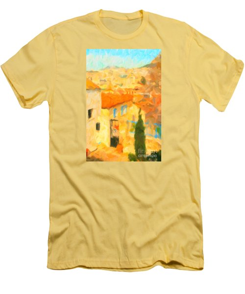 Summer In Athens Men's T-Shirt (Slim Fit) by Chris Armytage