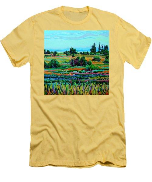 Summer Meadow Dance Men's T-Shirt (Athletic Fit)
