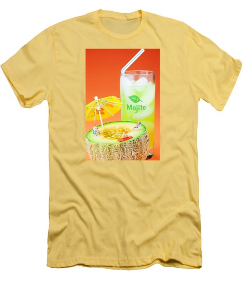 Men's T-Shirt (Slim Fit) featuring the photograph Summer Memory Little People On Food by Paul Ge