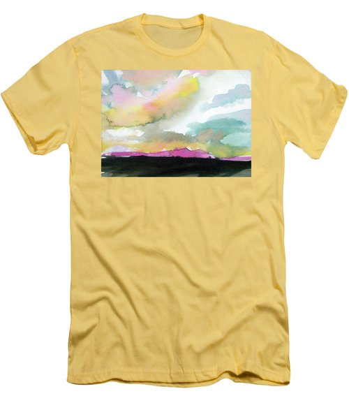 Men's T-Shirt (Slim Fit) featuring the painting Summer Monsoon by Ed Heaton