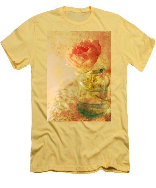 Summer Rose Men's T-Shirt (Slim Fit) by Catherine Alfidi