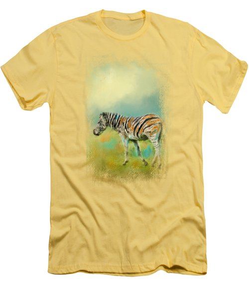Summer Zebra 2 Men's T-Shirt (Athletic Fit)