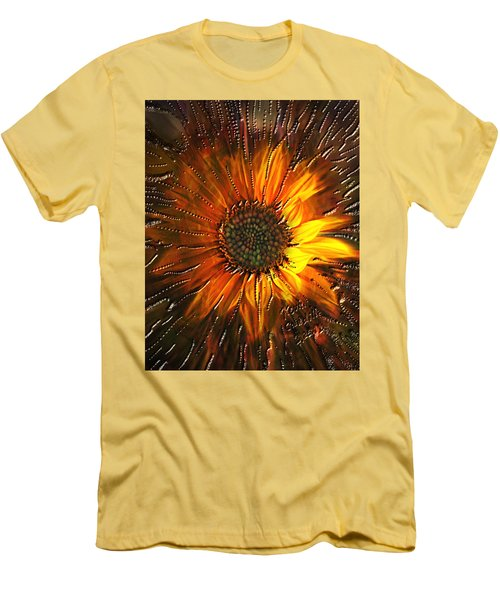 Men's T-Shirt (Slim Fit) featuring the painting Sun Burst by Kevin Caudill