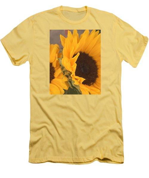 Sun Flower Men's T-Shirt (Slim Fit) by Jana Russon