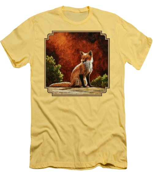 Sun Fox Men's T-Shirt (Slim Fit) by Crista Forest