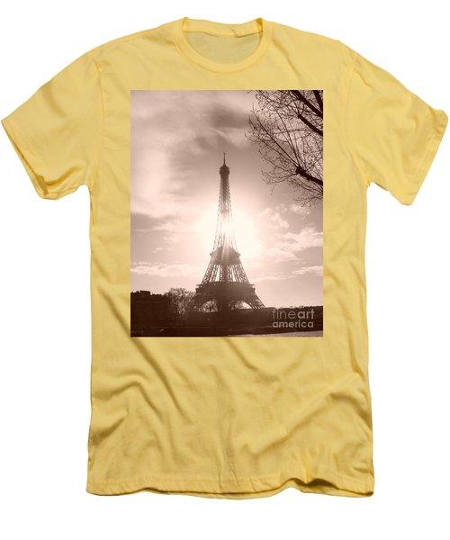 Sun In Paris Men's T-Shirt (Athletic Fit)