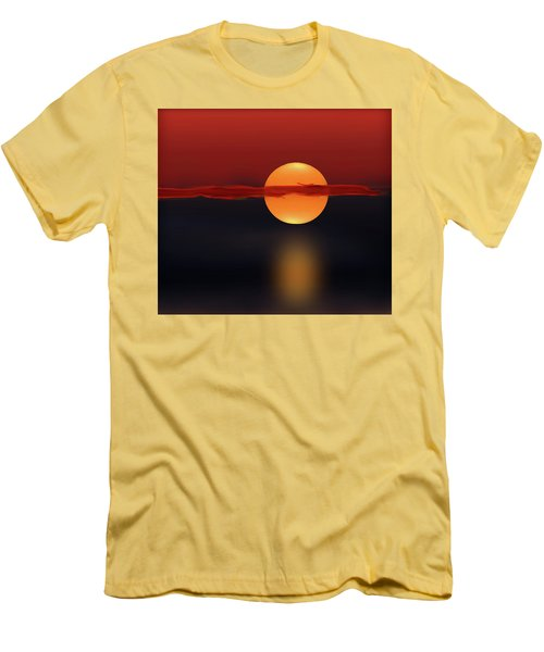 Sun On Red And Blue Men's T-Shirt (Athletic Fit)