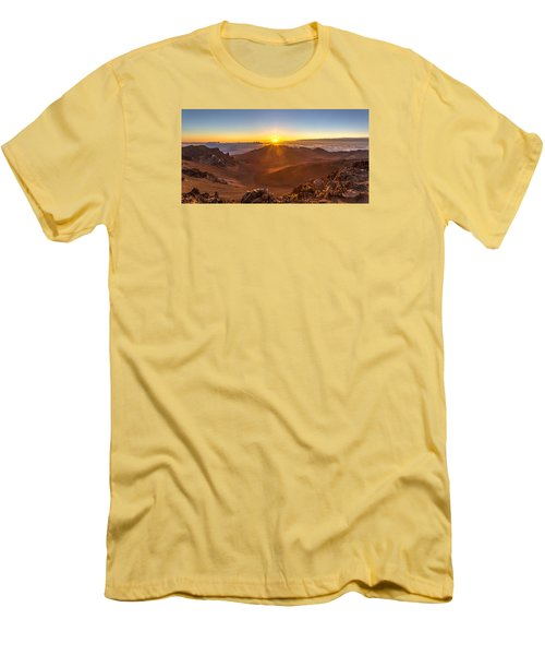 Sun Rising Mount Haleakala Men's T-Shirt (Slim Fit) by Pierre Leclerc Photography