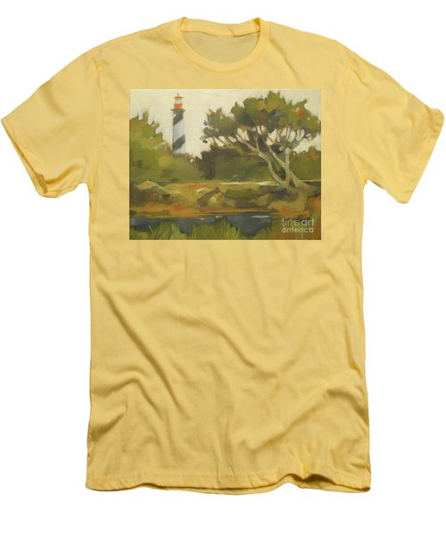 Sunday Lighthouse Men's T-Shirt (Slim Fit) by Mary Hubley