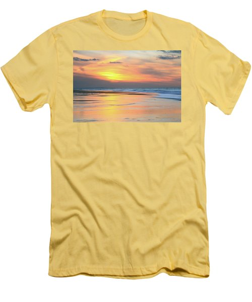 Men's T-Shirt (Slim Fit) featuring the photograph Sundown At Race Point Beach by Roupen  Baker