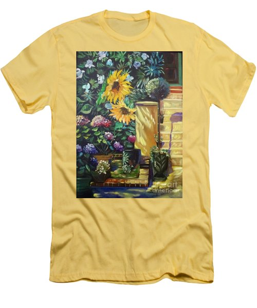 Sunflower Aloha Men's T-Shirt (Athletic Fit)