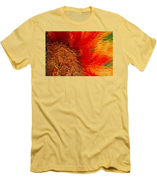 Men's T-Shirt (Slim Fit) featuring the photograph Sunflower Impressions by Jeanette French