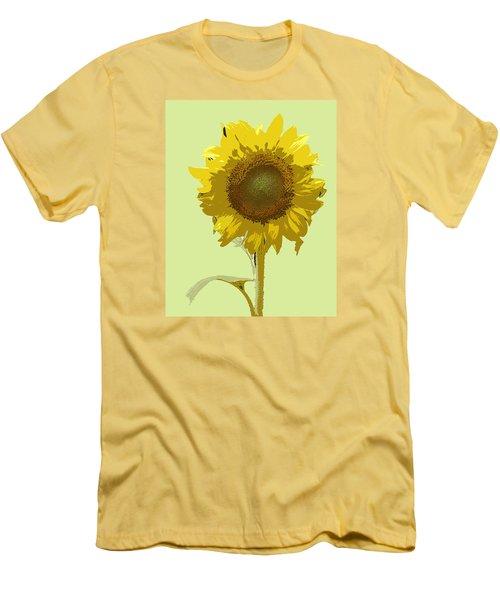 Men's T-Shirt (Slim Fit) featuring the digital art Sunflower by Karen Nicholson