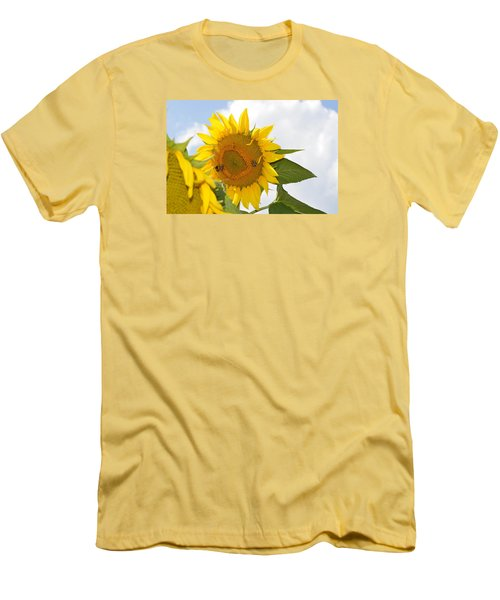 Men's T-Shirt (Slim Fit) featuring the photograph Sunflower by Linda Geiger