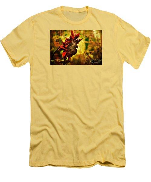 Sunflower Men's T-Shirt (Slim Fit) by Lois Bryan
