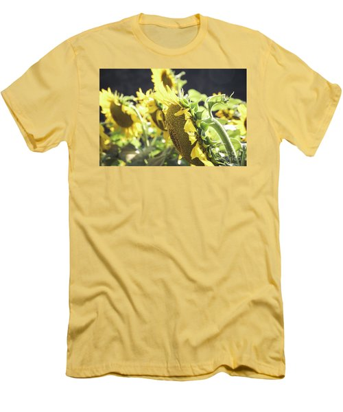 Men's T-Shirt (Athletic Fit) featuring the photograph Sunflowers 4 by Andrea Anderegg
